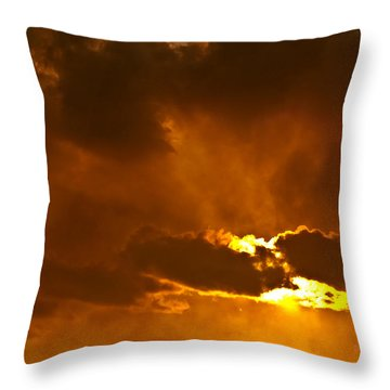Smoke On The Horizon Throw Pillow by DigiArt Diaries by Vicky B Fuller