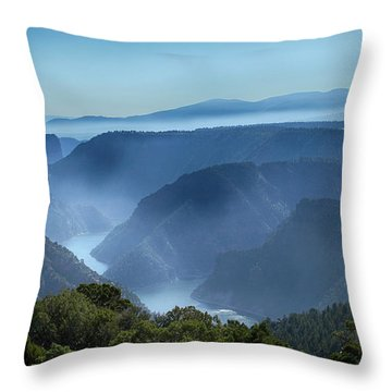 Smoke Over Flaming Gorge Throw Pillow