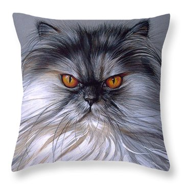 Smoke Persian Throw Pillow