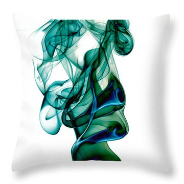 smoke XXIII Throw Pillow