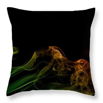 Throw Pillow featuring the photograph smoke XXXI by Joerg Lingnau