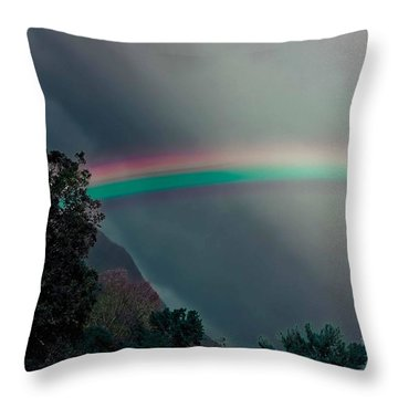 Smokey Mountain Majesty Throw Pillow by DigiArt Diaries by Vicky B Fuller