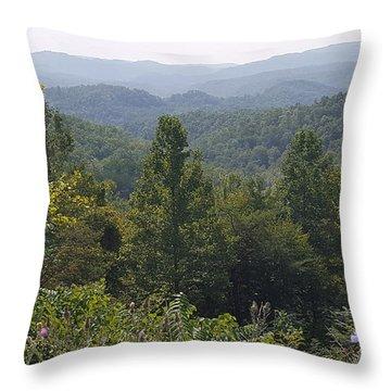 Smokey Mountain Sentinel Throw Pillow
