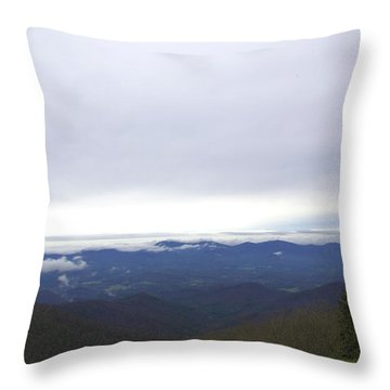 Smokey Mountains 2 Throw Pillow