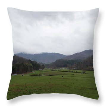 Smokey Mountains 3 Throw Pillow