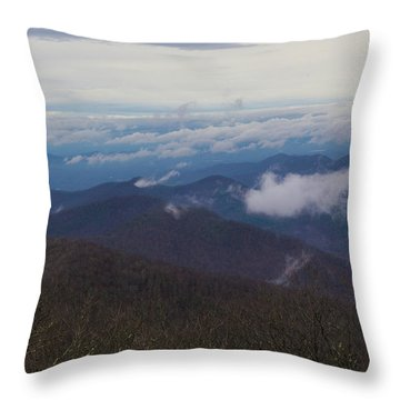 Smokey Mountains 5 Throw Pillow