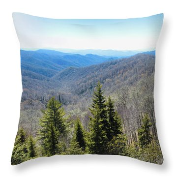 Smokey Mountains Pan Throw Pillow
