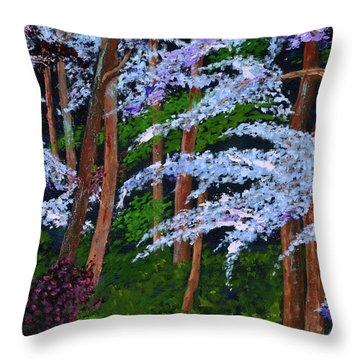 Smokey Mtn. Trail Throw Pillow