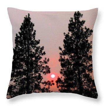 Smokey Okanagan Sunset Throw Pillow by Will Borden