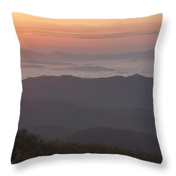Smokey Sunset Throw Pillow