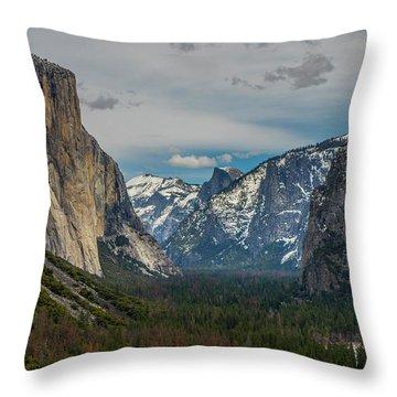 Smokey Yosemite Valley Throw Pillow