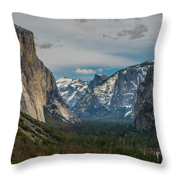 Smokey Yosemite Valley Throw Pillow