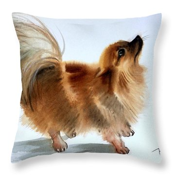 Smokey2 Throw Pillow