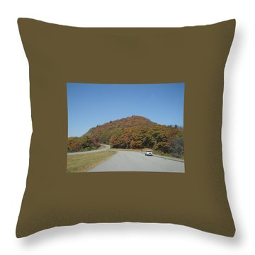 Smokies 10 Throw Pillow by Val Oconnor