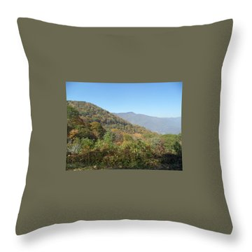 Smokies 11 Throw Pillow by Val Oconnor