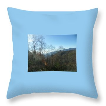Smokies 15 Throw Pillow by Val Oconnor