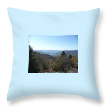 Smokies 16 Throw Pillow by Val Oconnor