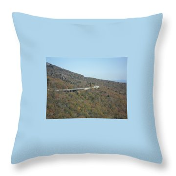 Smokies 17 Throw Pillow by Val Oconnor
