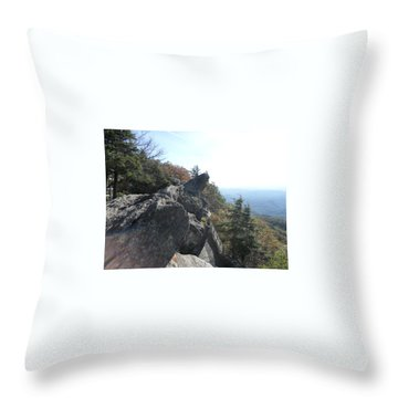 Smokies 18 Throw Pillow by Val Oconnor