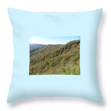 Smokies 19 Throw Pillow by Val Oconnor