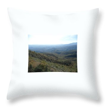 Smokies 20 Throw Pillow by Val Oconnor