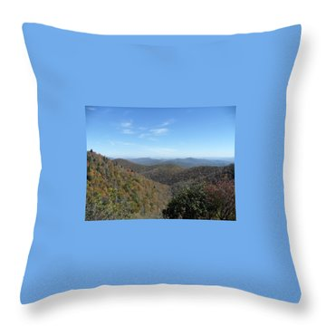 Smokies 6 Throw Pillow by Val Oconnor