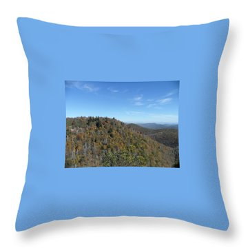 Smokies 7 Throw Pillow by Val Oconnor