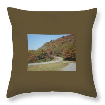Smokies 9 Throw Pillow by Val Oconnor