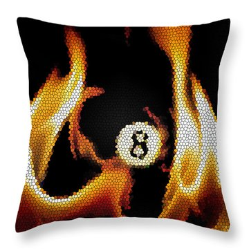 Smokin' 8 Ball II Throw Pillow