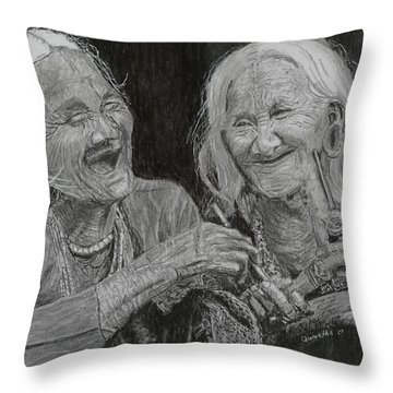 Smokin' And Jokin' Throw Pillow by Quwatha Valentine
