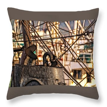 Smokin' Throw Pillow by Cameron Wood