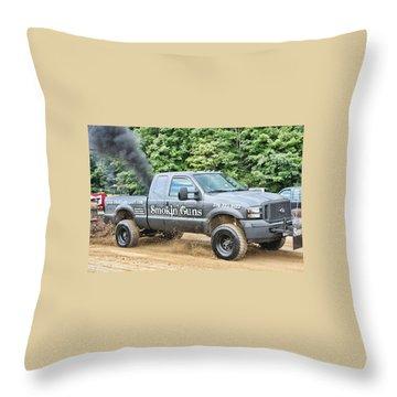 Throw Pillow featuring the photograph Smokin' Guns by Denise Romano