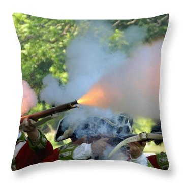 Smoking Guns Throw Pillow