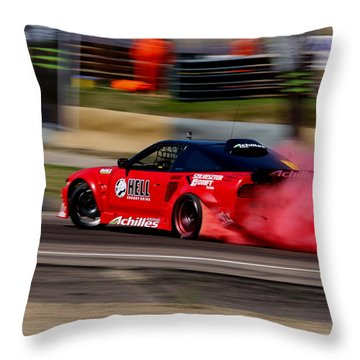 Smoking Red 2 Throw Pillow
