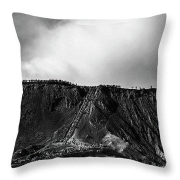 Smoking Volcano Throw Pillow