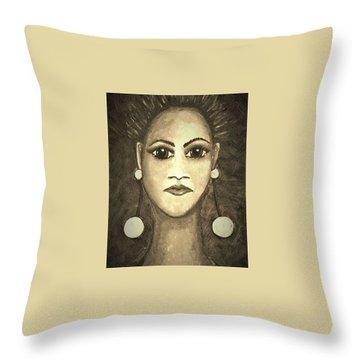 Smoking Woman 1 Throw Pillow