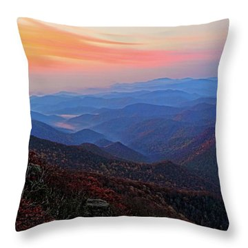 Dawn From Standing Indian Mountain Throw Pillow