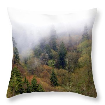 Smoky Mount Vertical Throw Pillow by Marty Koch