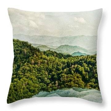Smoky Mountain Reflections Throw Pillow