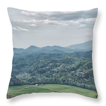 Smoky Mountain Scenic View Throw Pillow