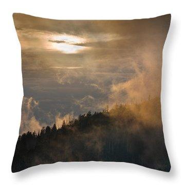 Smoky Mountain Throw Pillow by Steve Gadomski