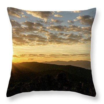 Blue Ridge Sunrise Throw Pillow