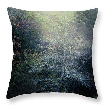 Smoky Mountain Trees Throw Pillow
