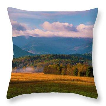 Smoky Mountains At Cades Cove I Throw Pillow