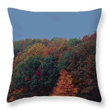 Smoky Mountains In Autumn Throw Pillow by DigiArt Diaries by Vicky B Fuller