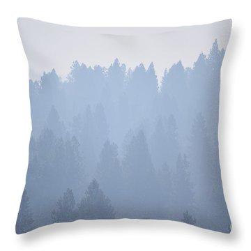 Smoky Pines Throw Pillow