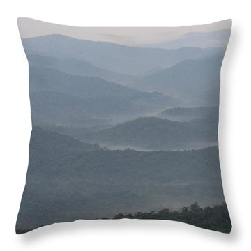 Smoky Range Throw Pillow