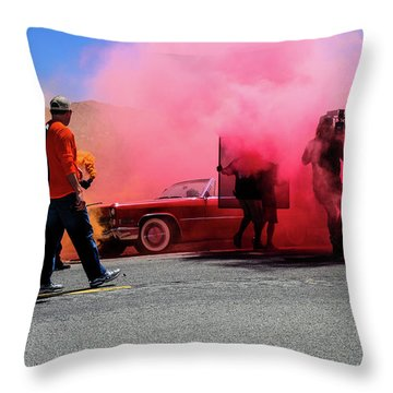 Smoky Throw Pillow by Robert Hebert