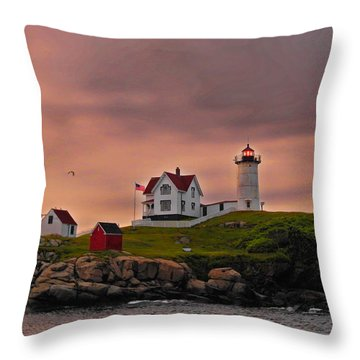 Smoky Skies Throw Pillow