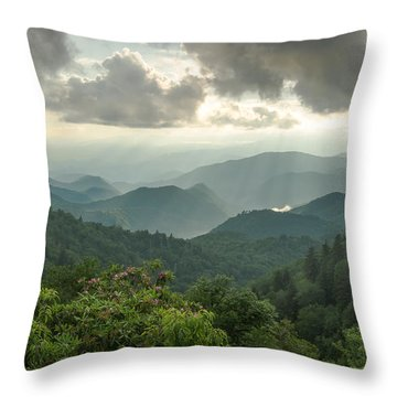 Smoky Sunbeams Throw Pillow